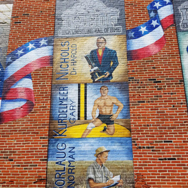 Mural: Nichols, Kurdelmeier, Borlaug