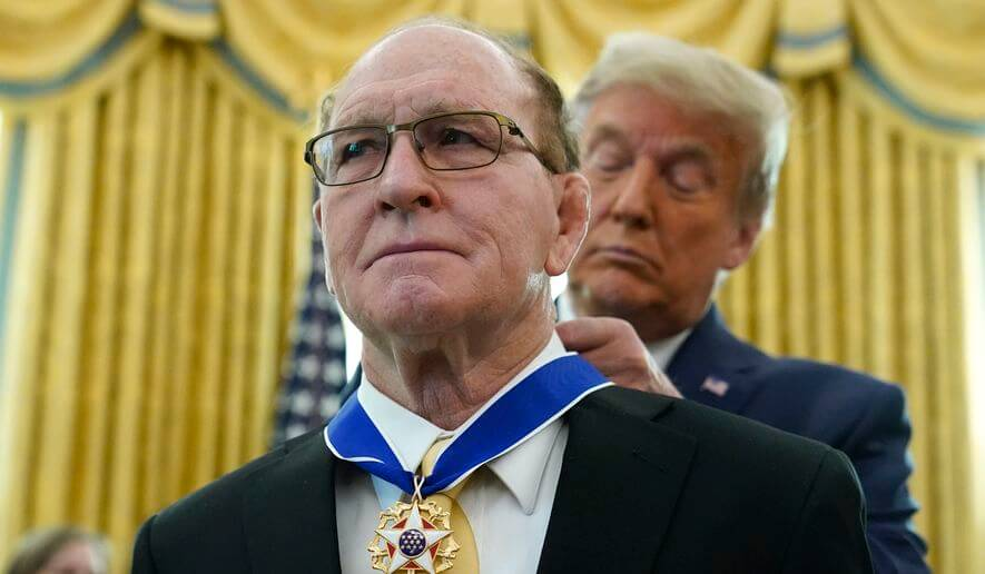 Dan Gable, Iowa's Wrestling Legend, Honored with Medal of Freedom News Photo